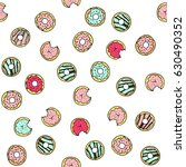 seamless vector pattern with... | Shutterstock .eps vector #630490352