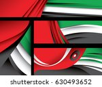 abstract uae flag  emirates... | Shutterstock .eps vector #630493652
