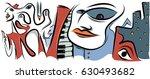 abstract jazz in city  vector... | Shutterstock .eps vector #630493682