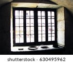 window and thick stone wall... | Shutterstock . vector #630495962