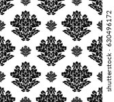 damask seamless pattern... | Shutterstock .eps vector #630496172
