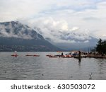 dock in a lake surrounded by... | Shutterstock . vector #630503072