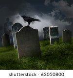 Cemetery With Old Gravestones...