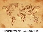 Vintage Worldmap With...