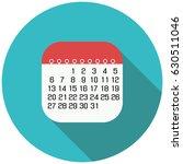the calendar icon. flat design. ...