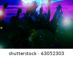 silhouettes of dancing people... | Shutterstock . vector #63052303