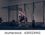 strong muscular bodybuilder ... | Shutterstock . vector #630523442