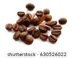 coffee grains and leaves   Shutterstock . vector #630526022