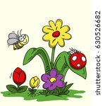little bugs in my garden | Shutterstock .eps vector #630526682
