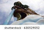 dragon building in suphan buri  ...   Shutterstock . vector #630529052