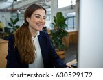 smiling female executive... | Shutterstock . vector #630529172