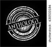 anthology chalkboard emblem...   Shutterstock .eps vector #630533186