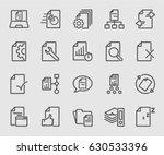 business document flow line... | Shutterstock .eps vector #630533396