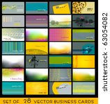 vector set of elegant fresh... | Shutterstock .eps vector #63054082