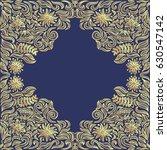 floral gold frame. vector...   Shutterstock .eps vector #630547142