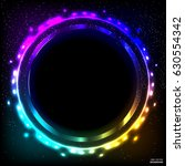 colorful neon frame on a dark... | Shutterstock .eps vector #630554342