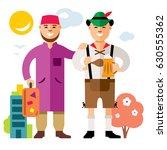 vector refugee in germany.... | Shutterstock .eps vector #630555362