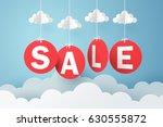 paper art of sale mobile... | Shutterstock .eps vector #630555872