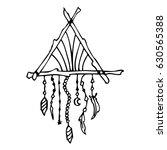 hand drawn doodles boho  tribal ... | Shutterstock .eps vector #630565388