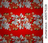 seamless vintage pattern on red ... | Shutterstock .eps vector #630575228