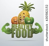 "vector green emblem ""healthy... | Shutterstock .eps vector #630582152"