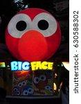 big face light sign at... | Shutterstock . vector #630588302