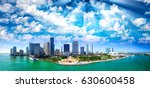 panoramic aerial view of miami... | Shutterstock . vector #630600458