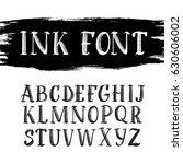 hand drawn latin vintage grunge ... | Shutterstock .eps vector #630606002