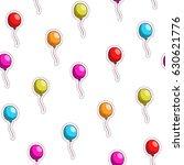 multi colored balloons.  vector ... | Shutterstock .eps vector #630621776