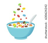 vector illustration. cereal... | Shutterstock .eps vector #630624242