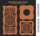 diy laser cutting vector scheme ... | Shutterstock .eps vector #630624602