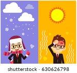 vector character  weather... | Shutterstock .eps vector #630626798
