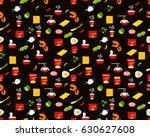 vector flat seamless texture... | Shutterstock .eps vector #630627608