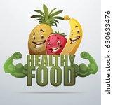 "vector green emblem ""healthy... | Shutterstock .eps vector #630633476"
