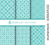 a pack of vintage pattern... | Shutterstock .eps vector #630635102