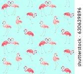 wallpaper with cute pink... | Shutterstock .eps vector #630639896