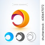 abstract letter d or o logo... | Shutterstock .eps vector #630647072