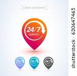 24 7 hours service | Shutterstock .eps vector #630647465