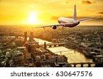 passengers airplane flying... | Shutterstock . vector #630647576
