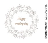 hand drawn wreath made in vector   Shutterstock .eps vector #630649646