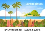 tropical beach island palm tree ... | Shutterstock .eps vector #630651296