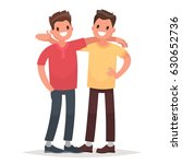 concept of male friendship. two ... | Shutterstock .eps vector #630652736