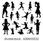 a set of kids or children in... | Shutterstock .eps vector #630653522