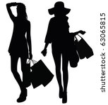 Silhouettes Of Two Girls