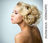 face of beautiful sexy woman | Shutterstock . vector #630662492