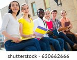 group of multi ethnic students... | Shutterstock . vector #630662666