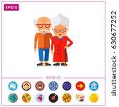 elderly people vector icon | Shutterstock .eps vector #630677252