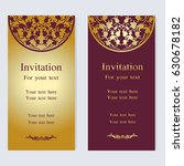 vintage invitation and wedding... | Shutterstock .eps vector #630678182