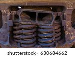 close up of rusted springs on... | Shutterstock . vector #630684662