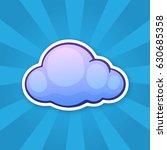 vector illustration. blue cloud.... | Shutterstock .eps vector #630685358